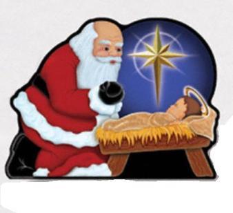 santa holding baby jesus