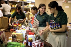 Catholic school food drive